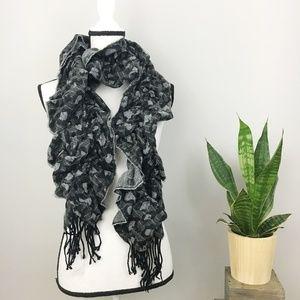 Big Buddha Cheetah print elastic scarf w/tassels